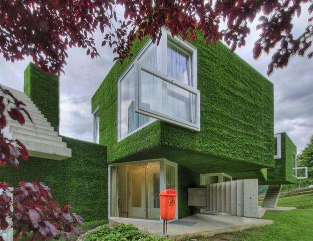 في النمسا واحد من أغرب المنازل التي شيدت وتم تغطيتها بالعشب الأخضر Grass-Covered-House-in-Frohnleiten-by-ORTIS-GmbH-6