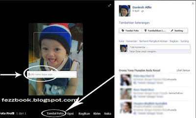 Cara Memberi Nama /Tag Wajah Di Photo Facebook