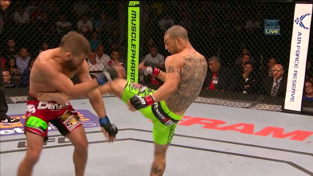 Swanson body kick Stephens UFC Fight Night 44