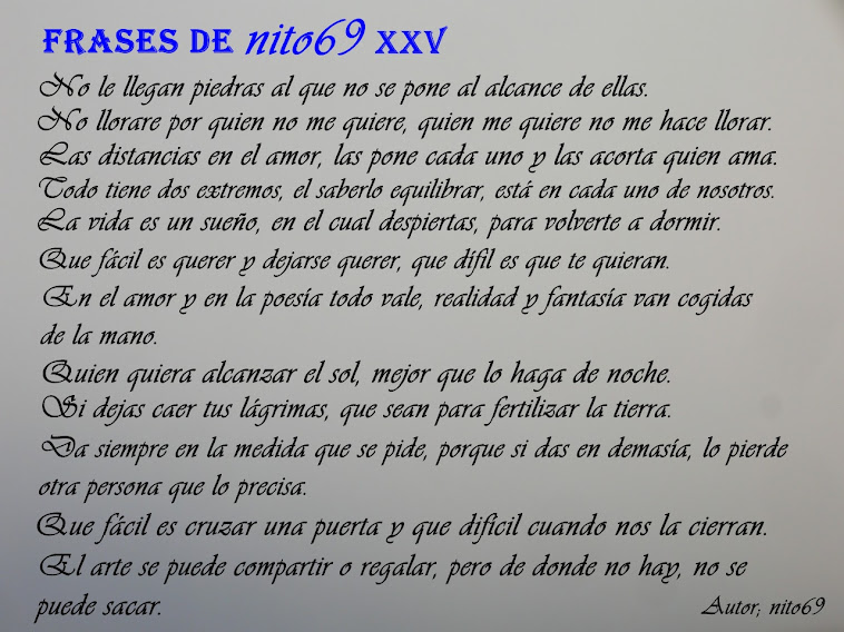FRASES DE nito69 XXV