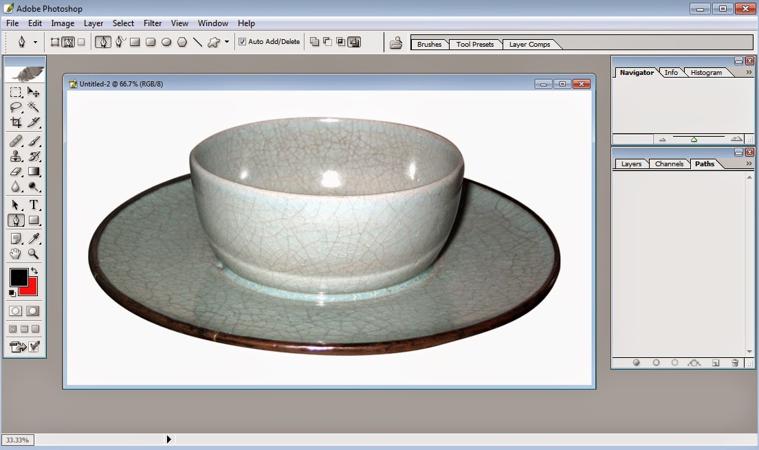 Clipping path white background