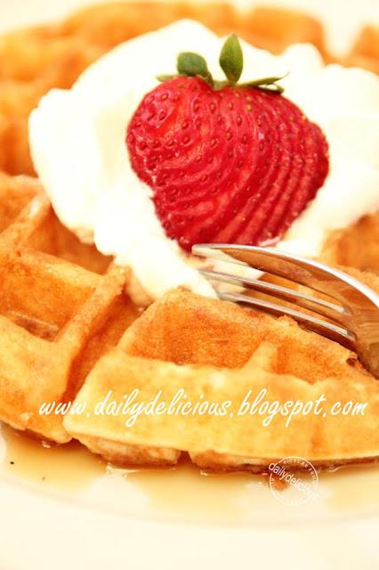 yeast raised waffles yeast type belgium waffle ขนม ปัง ...