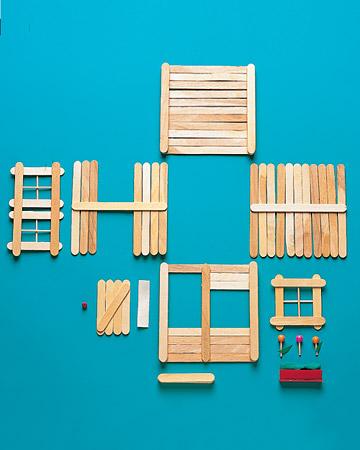 Euqfiz casinha de palito de sorvete for How to build a treehouse with sticks