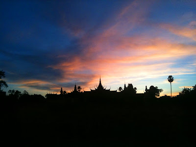 Phnom Penh, National Museum, sunset, Cambodia