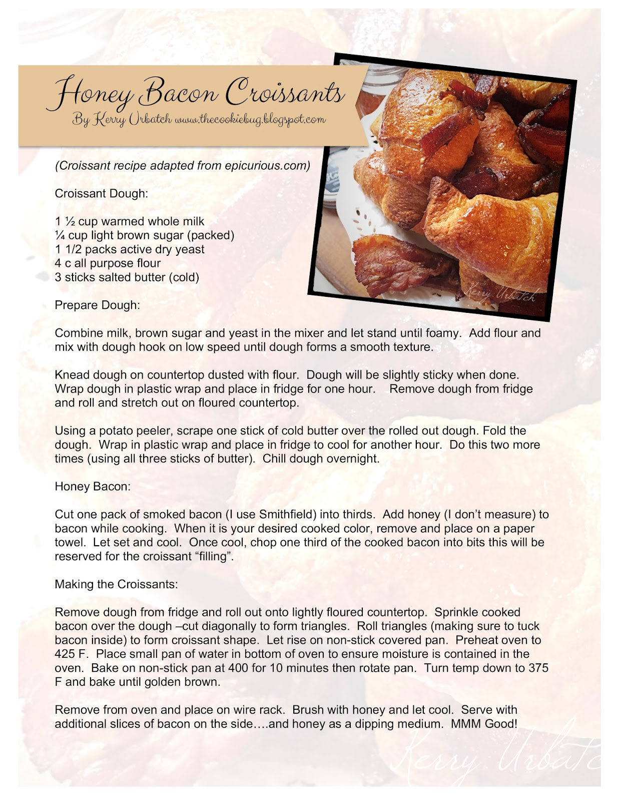 Hope You Enjoy This Recipe I Created A Little Pdf For You To Snag If You  How To Make Crispy Baked Bacon In The Oven