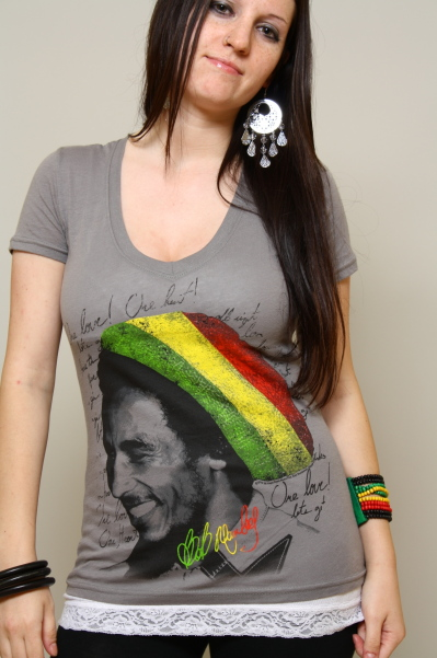 Catch a Fire Bob Marley tee