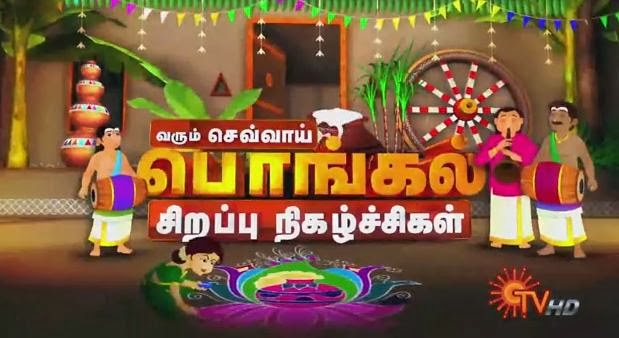 Pongal Special Programes,Shows Sun Tv Promo 14-01-2014,15-01-2014,16-01-2014
