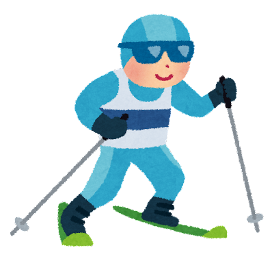 冬季オリンピックのイラスト「クロスカントリースキー」