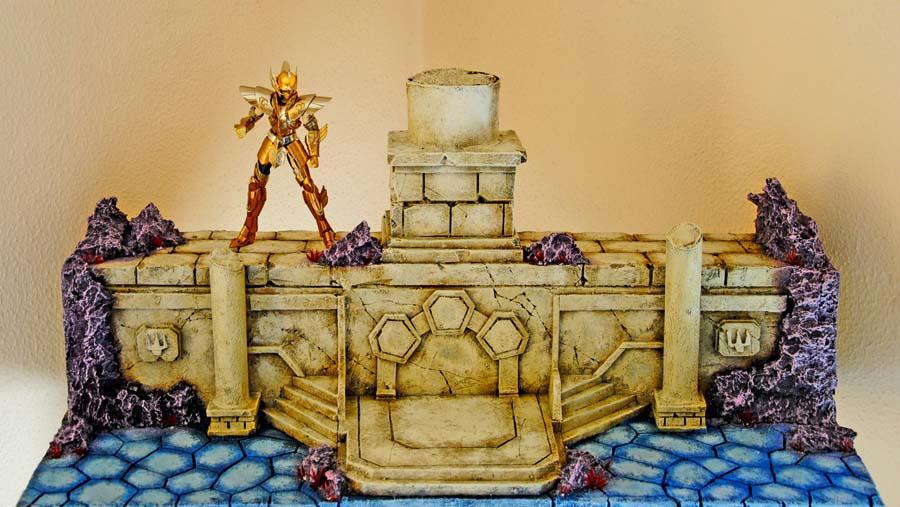 Saint seiya poseidon per mensola billy ikea diorami for Ikea billy mensola