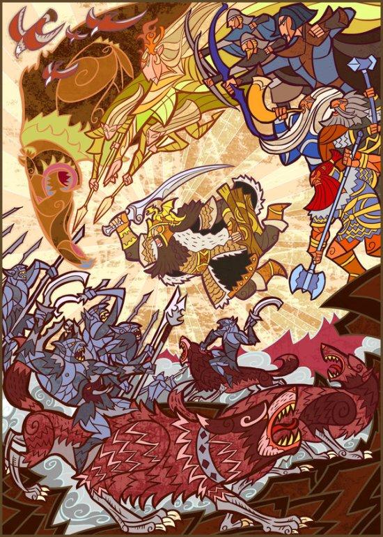Jian Guo breathing2004 deviantart ilustrações fantasia ficção vitrais coloridos vintage