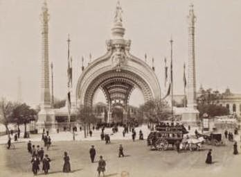 Paris 1900 Exposition universelle porte