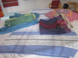 Garn, väska och matta
