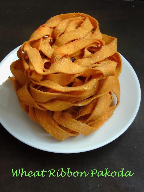 Wheat ribbon pakoda,Wheat ola pakoda