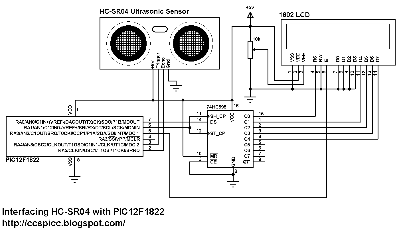 interfacing pic12f1822 with hc
