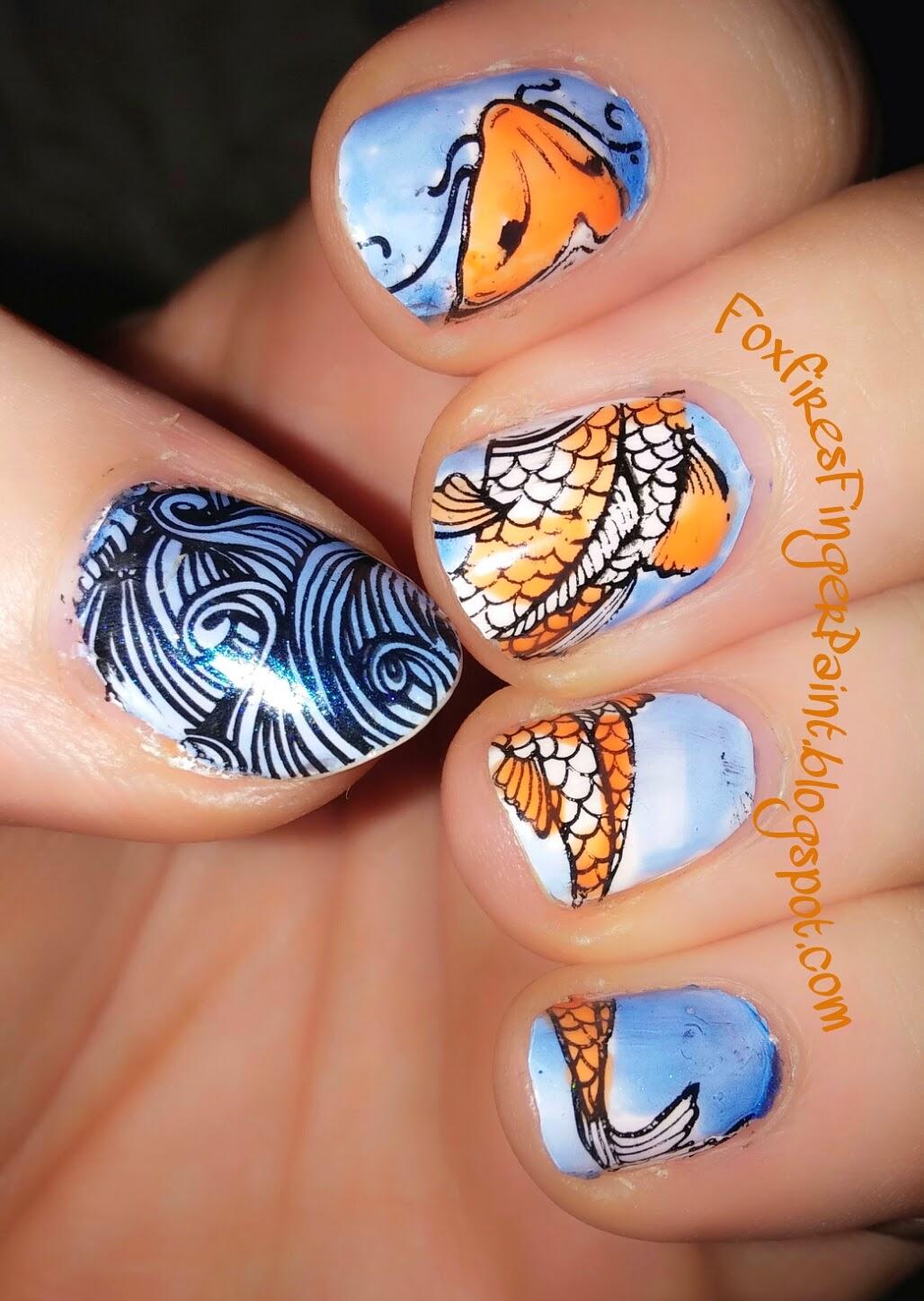 Foxfire\'s Finger Paint: Koi Fish.
