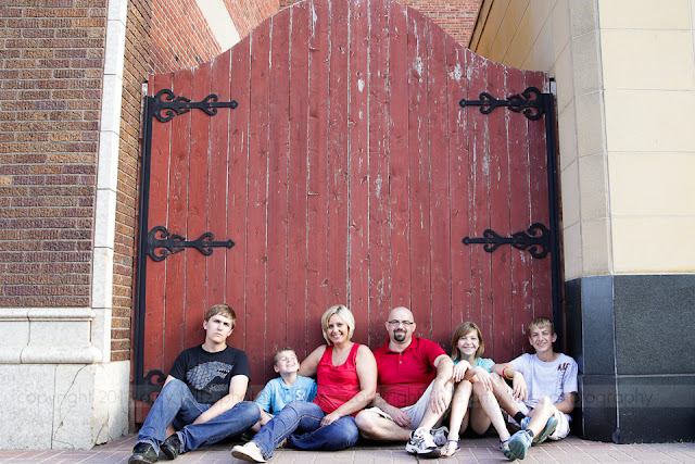 photo of a family in downtown Terre Haute, IN