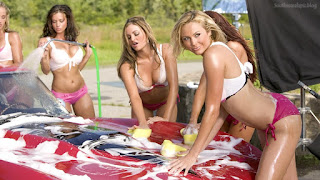 Candice Maria torrie christy wwe summerslam carwash