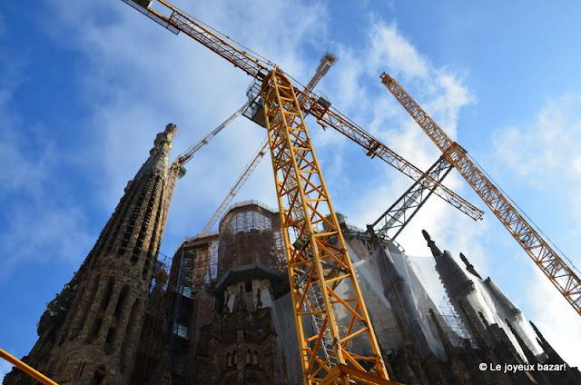 Barcelone  -Sagrada Familia - en travaux