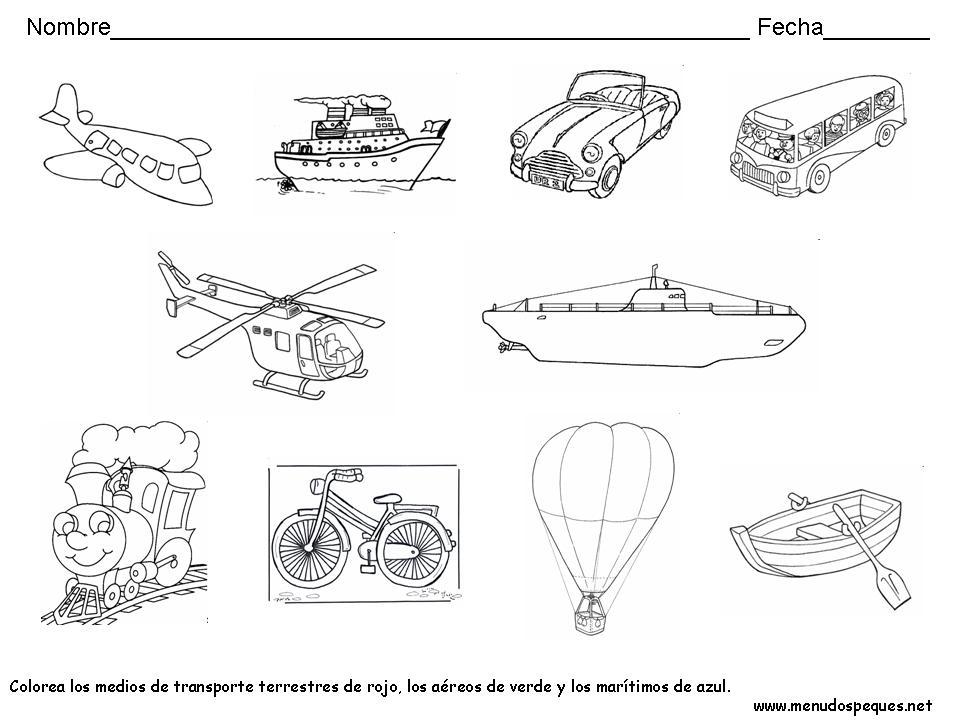 Los medios de transporte, proyecto de aprendizaje