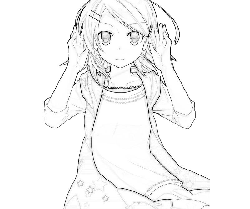 free coloring pages of miku len rin