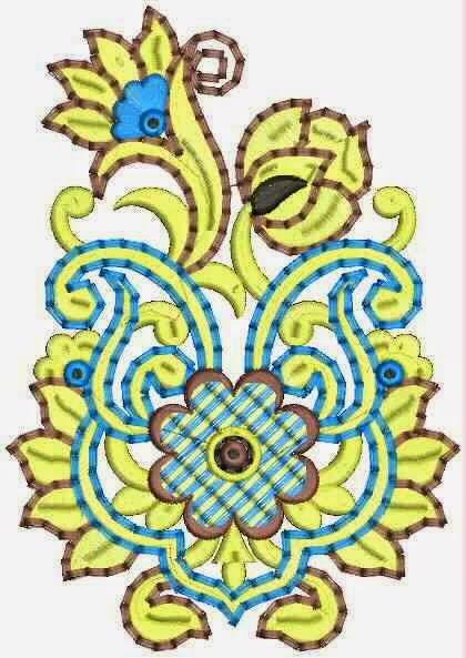 Kulturele-Afrikaanse borduurwerk appliekwerk