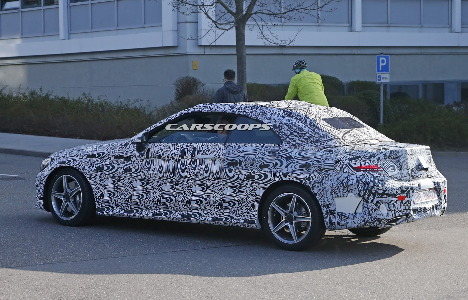 new mercedes benz c class cabriolet spied with production body. Black Bedroom Furniture Sets. Home Design Ideas