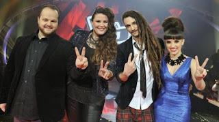 Finalistas La Voz 2013: David Barrull, Estela Amaya, Jaume Más y Dina Arriaza
