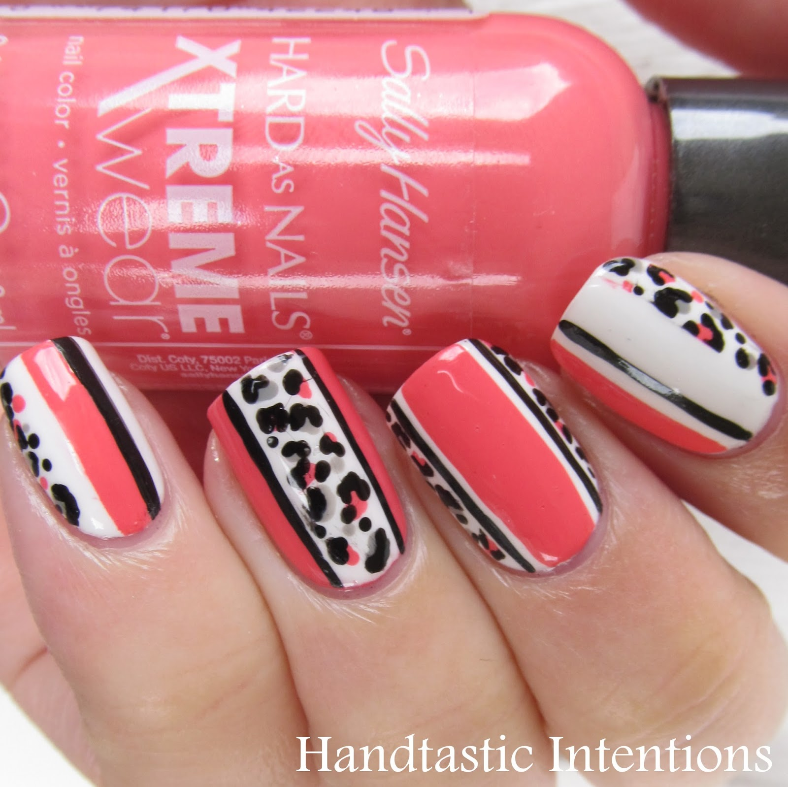 Handtastic Intentions: Nail Art: Leopard and Stripes