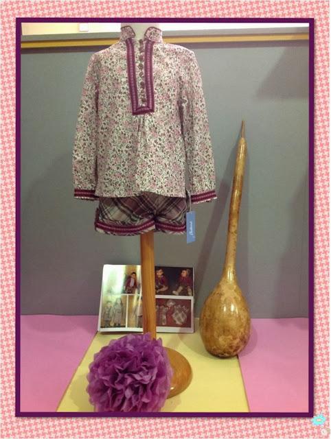 Conjunto cuadro tartar de Babiné en Blog Retamal moda infantil y bebe ropa en tienda de niños y juvenil