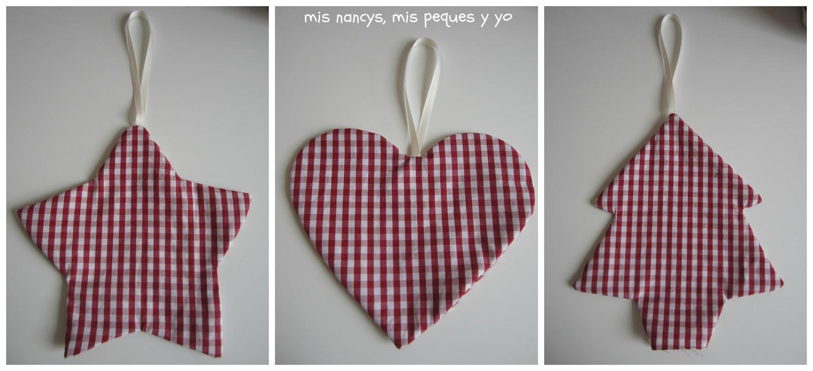 mis nancys, mis peques y yo, tutorial DIY adornos Navidad, planchar estrella, corazón y árbol