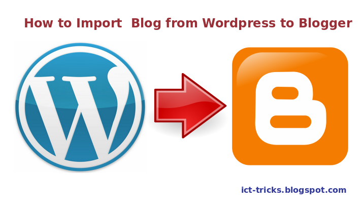 How import from Blogger to WordPress