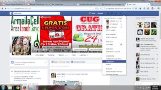 Di kanan atas Facebook, klik dan pilih Pengaturan