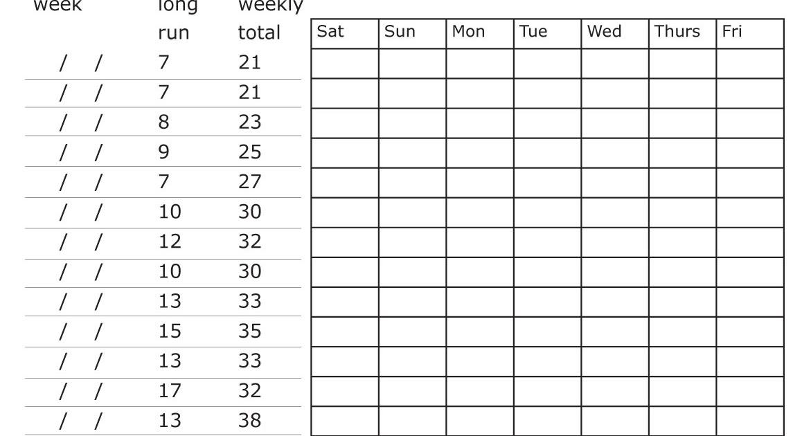 first marathon training schedule pdf