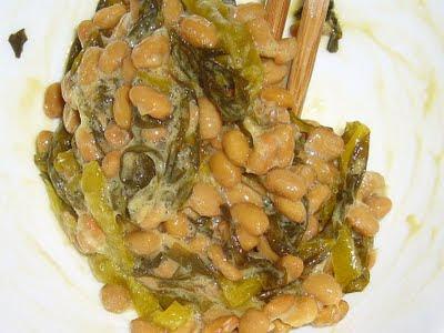 納豆に高菜漬け感覚