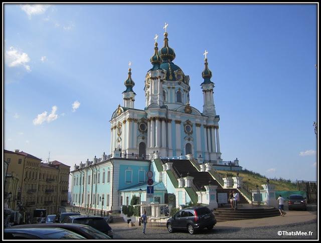 St Andrews Cathedral Kiev Andreevskiy Spusk rue boutique de souvenirs