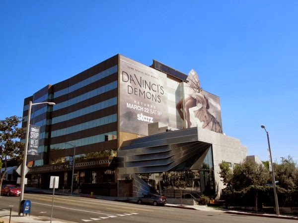 Giant Da Vinci's Demons season 2 billboard