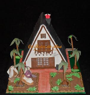 Bolo Replica 3D de uma casa - Vivenda das palmeiras em Esmoriz