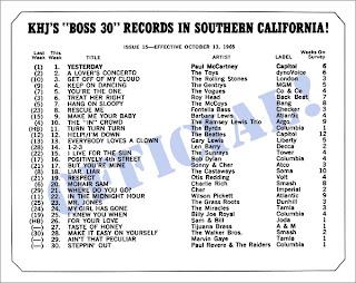 KHJ Boss 30 No. 15 - October 13, 1965