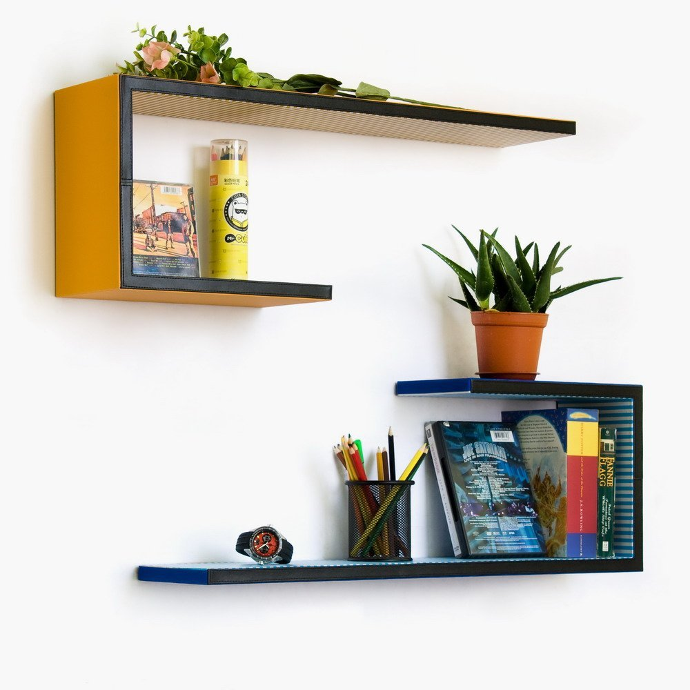 Here You A Creative Collection Of Shelves Mounted To Wall To Help You