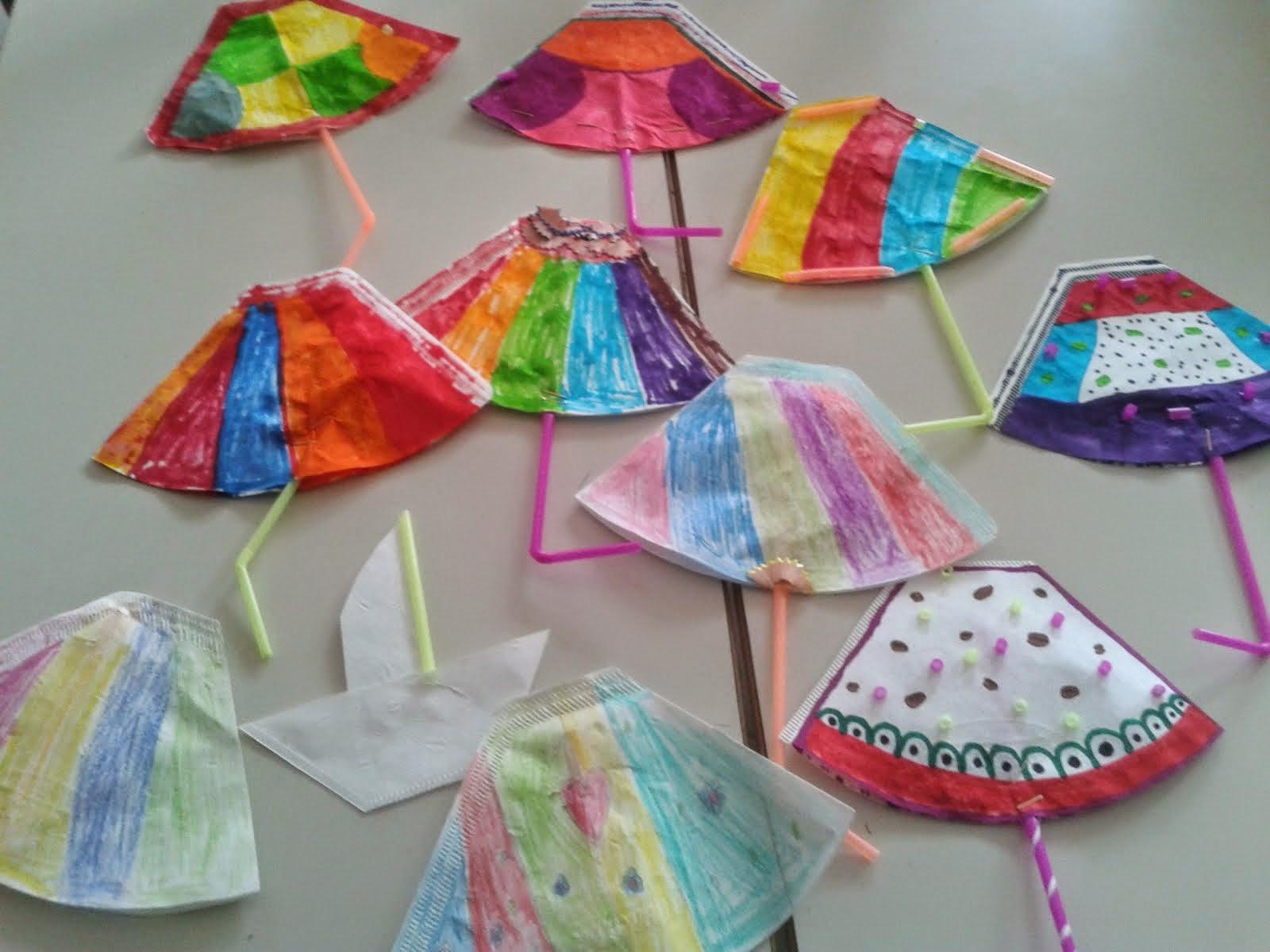 πολύχρωμα ομπρελάκια