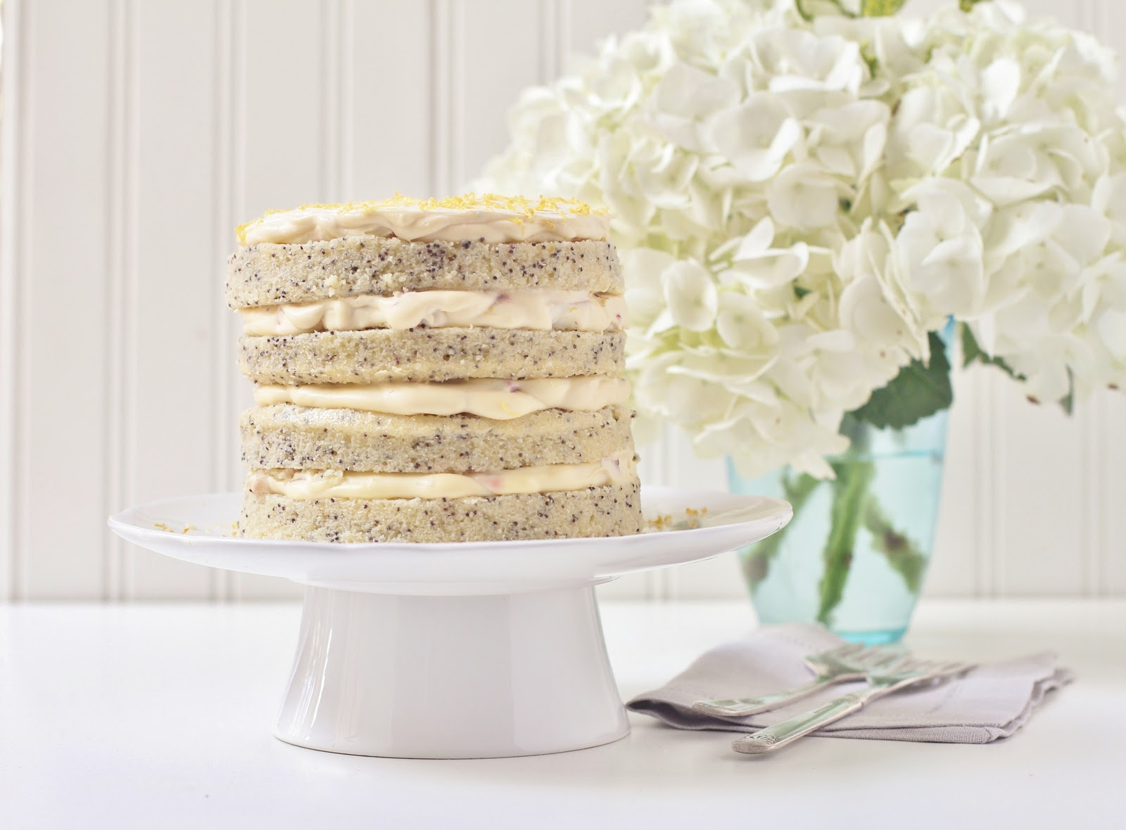 Beyond Sweet and Savory Lemon Poppy Seed Cake for My Birthday