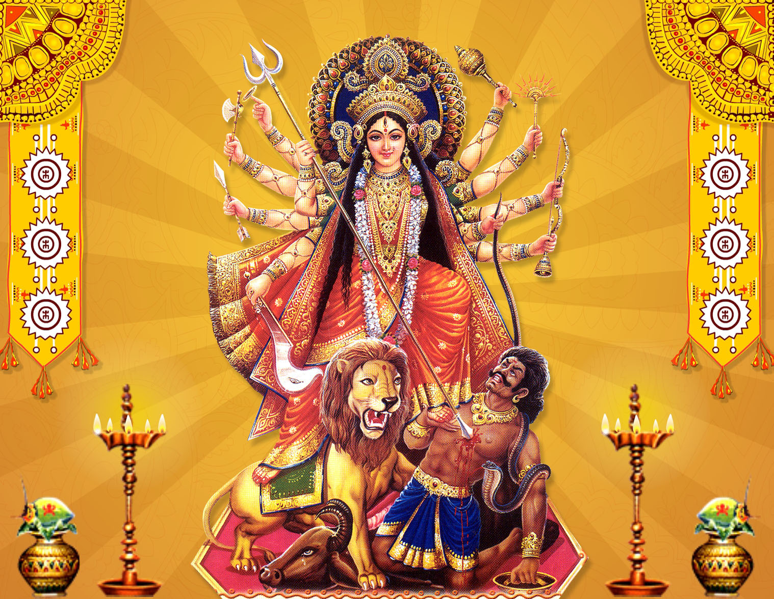 Hd Wallpapers Durga Mata