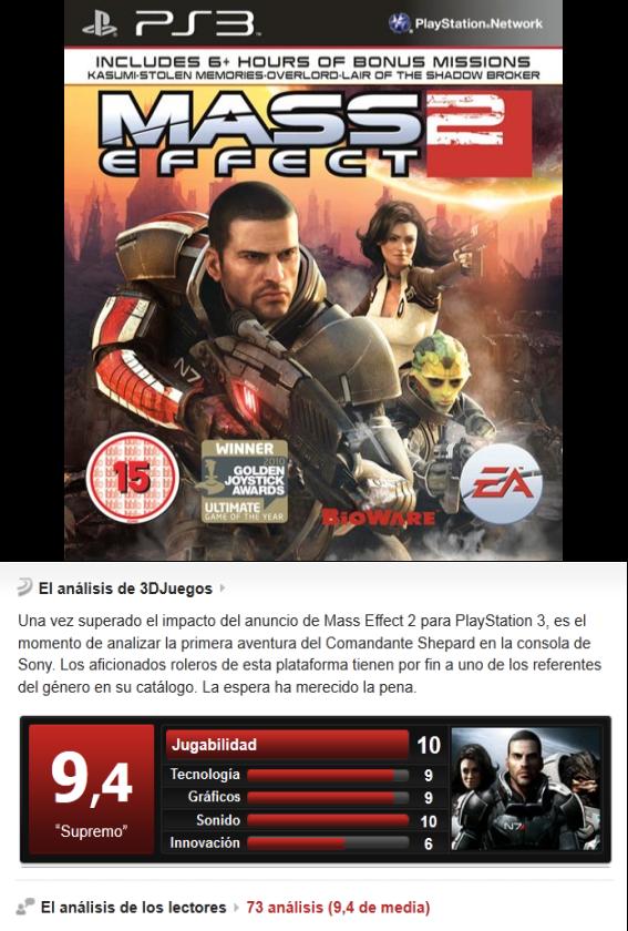 Mass Effect 2 -PS3-