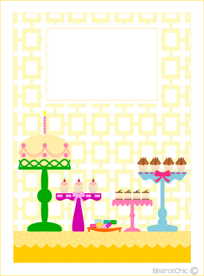 Free card with a party table from BistrotChic