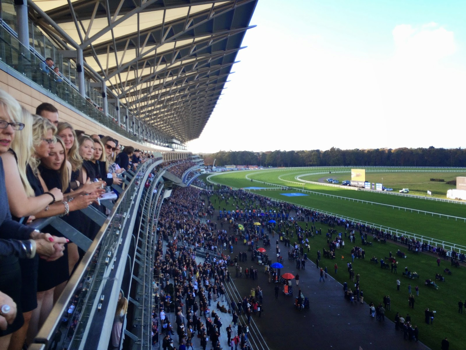 View of Ascot racecourse from outside the On5 restaurant