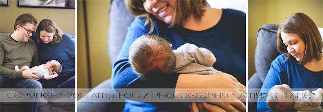 lifestyle photos of newborn with parents