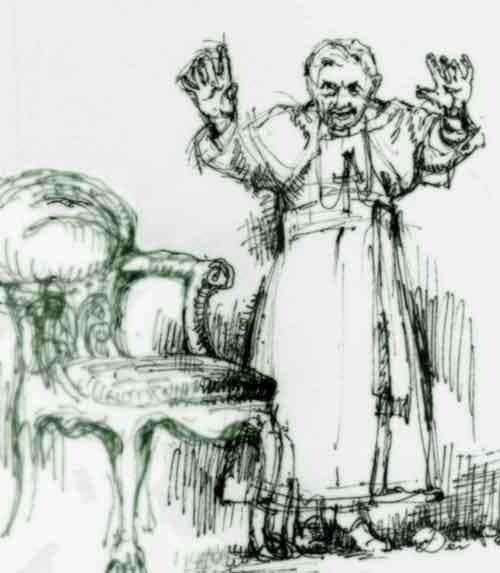 Pope, benedict, Papst, Benedikt 16.,Zeichnung, Rücktritt,Sedisvakanz, Heiliger Stuhl, Vatikan, Santo Padre,Papa Razzi, Ratzinger, Holy Seat, Handzeichnung, Kunst, Kunstwerk, Künstler