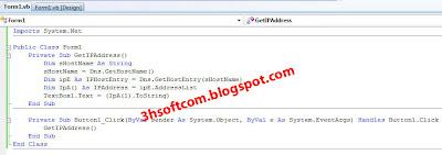 Cara Melihat IP Address Dengan VB.NET