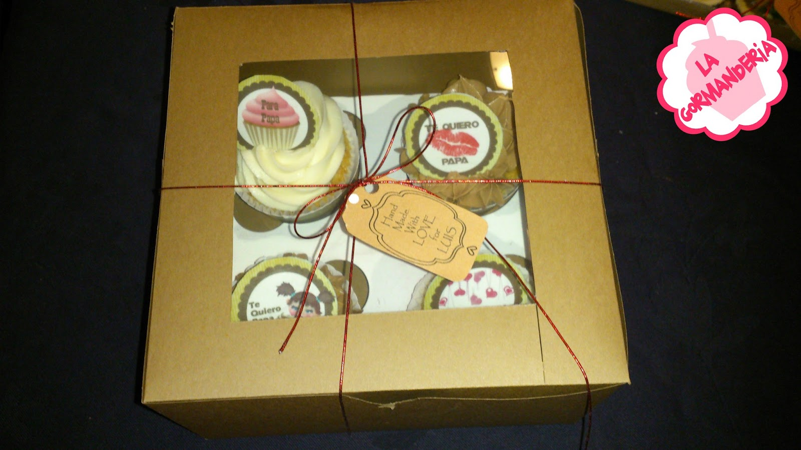 Caja cupcakes de chocolate