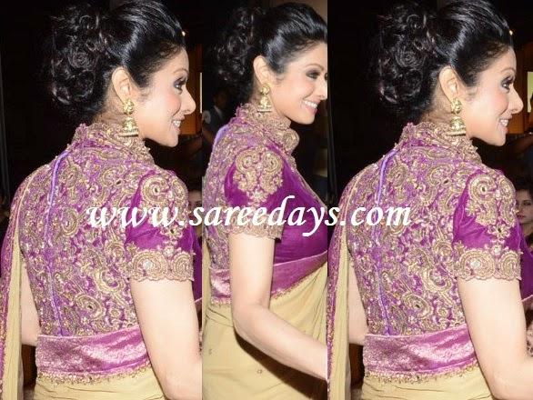 Latest saree designs sridevi in designer heavy work blouse sridevi in designer heavy work blouse altavistaventures Image collections